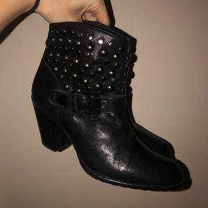 Stuart Weitzman black studded boots